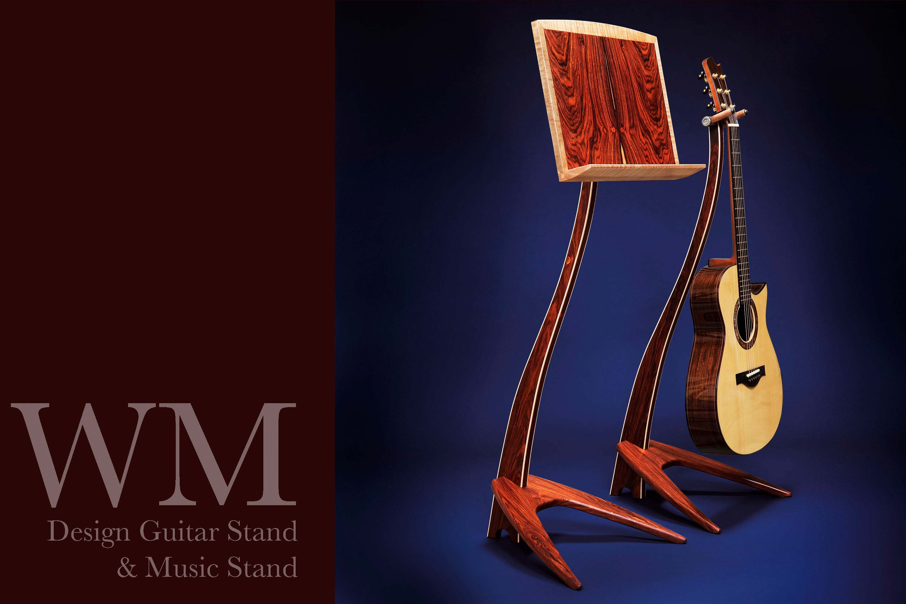WM Guitar Stand in cocobolo.