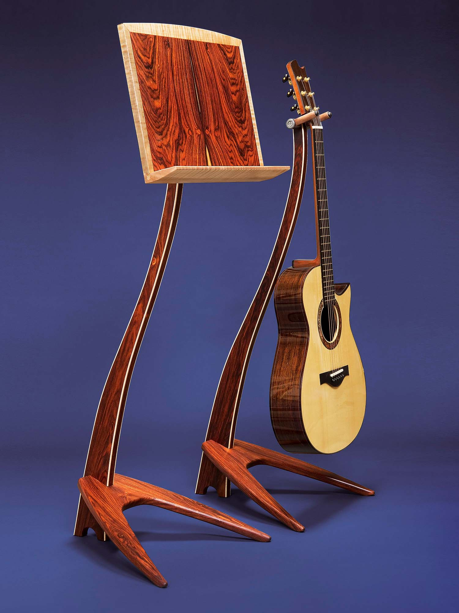 WM Cocobolo Music and Guitar Stands