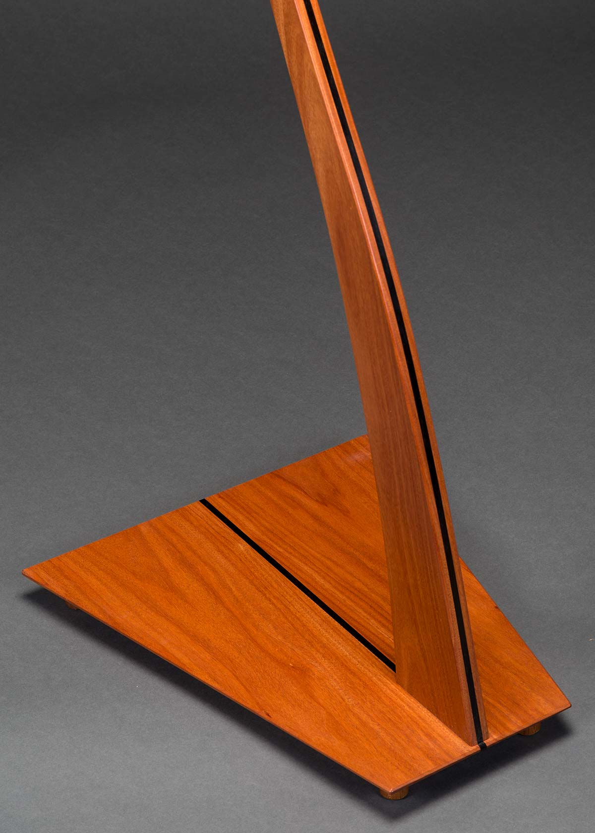 SM Guitar Stand in Santos Mahogany with Ebony Inlay