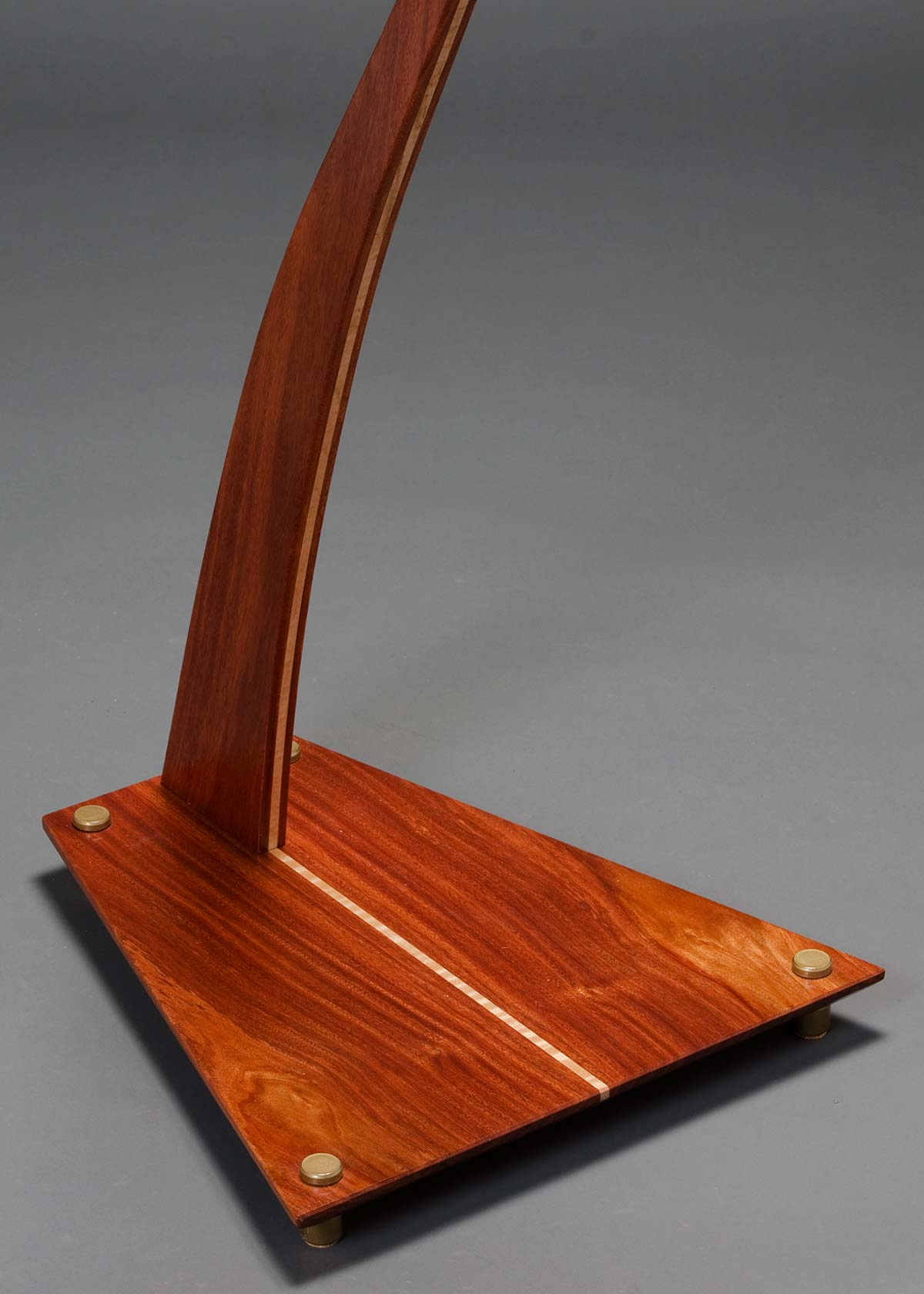 SM Guitar Stand in Santos Mahogany with Curly Maple Inlay