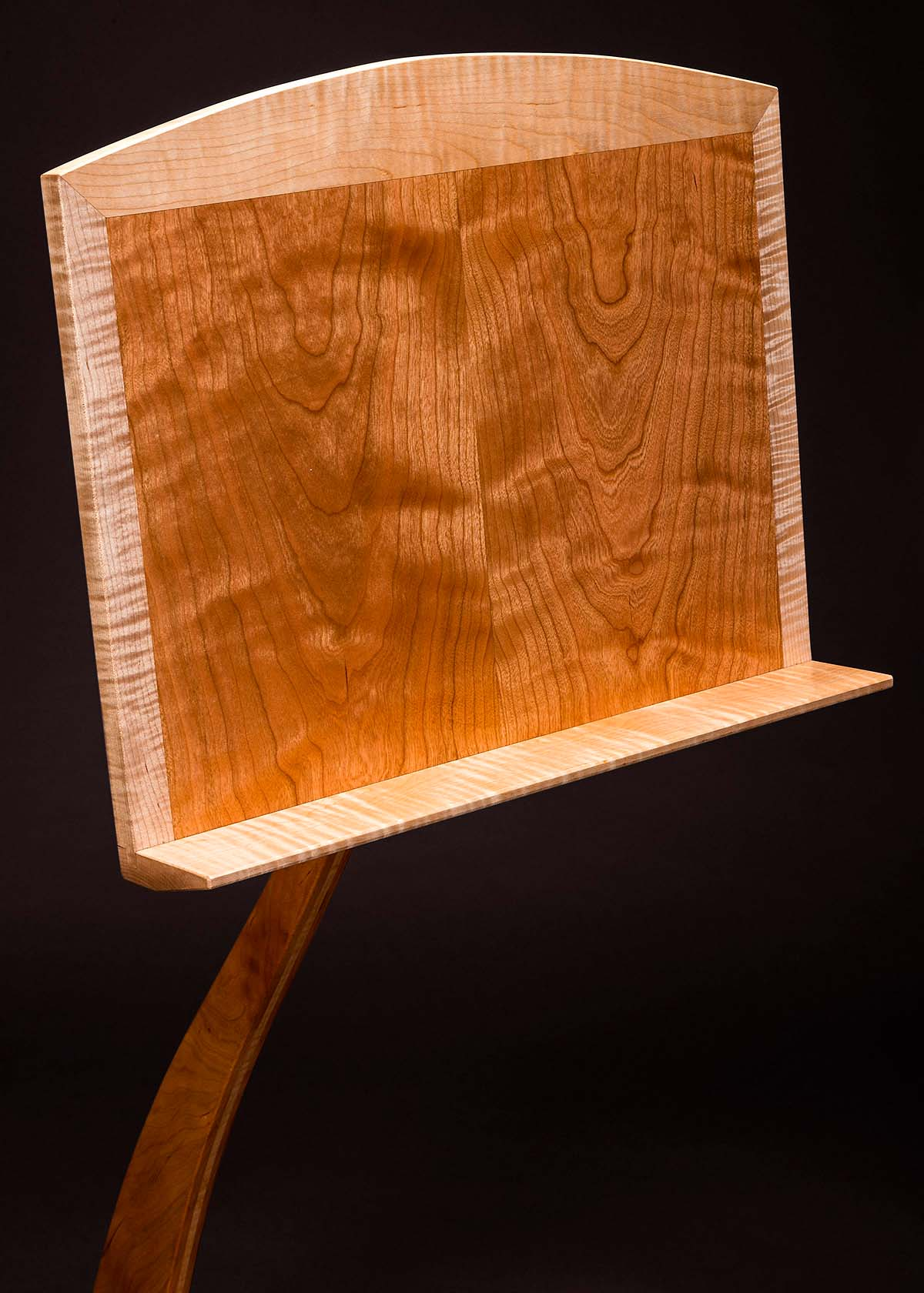 Music Stand - Cherry with Curly Maple