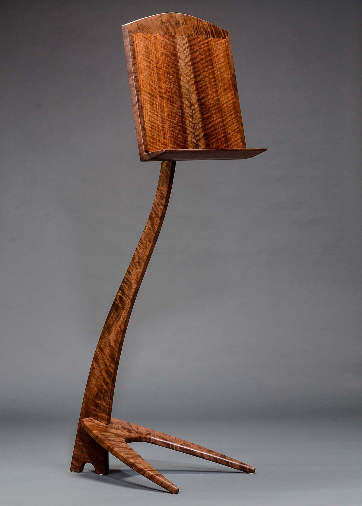 WM Music Stand - Cocobolo with Curly Maple Binding