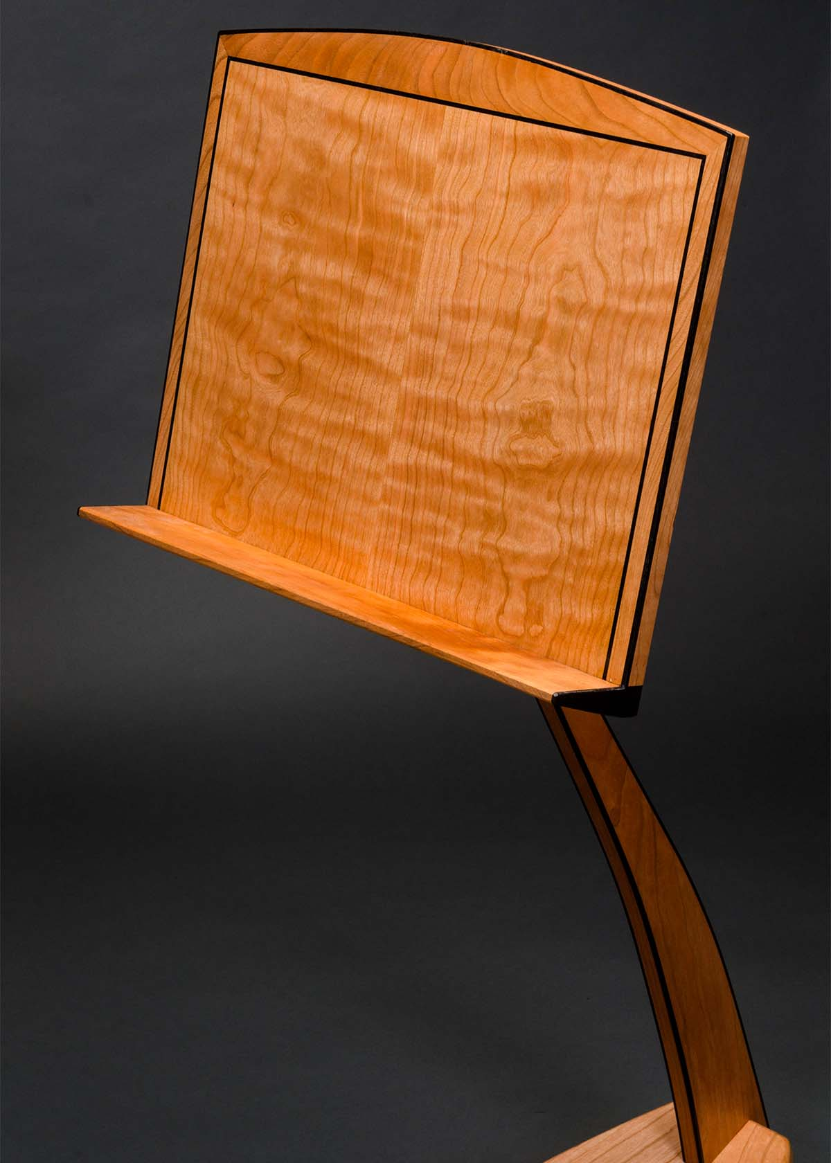 WM Music Stand in Cherry with Ebony Binding