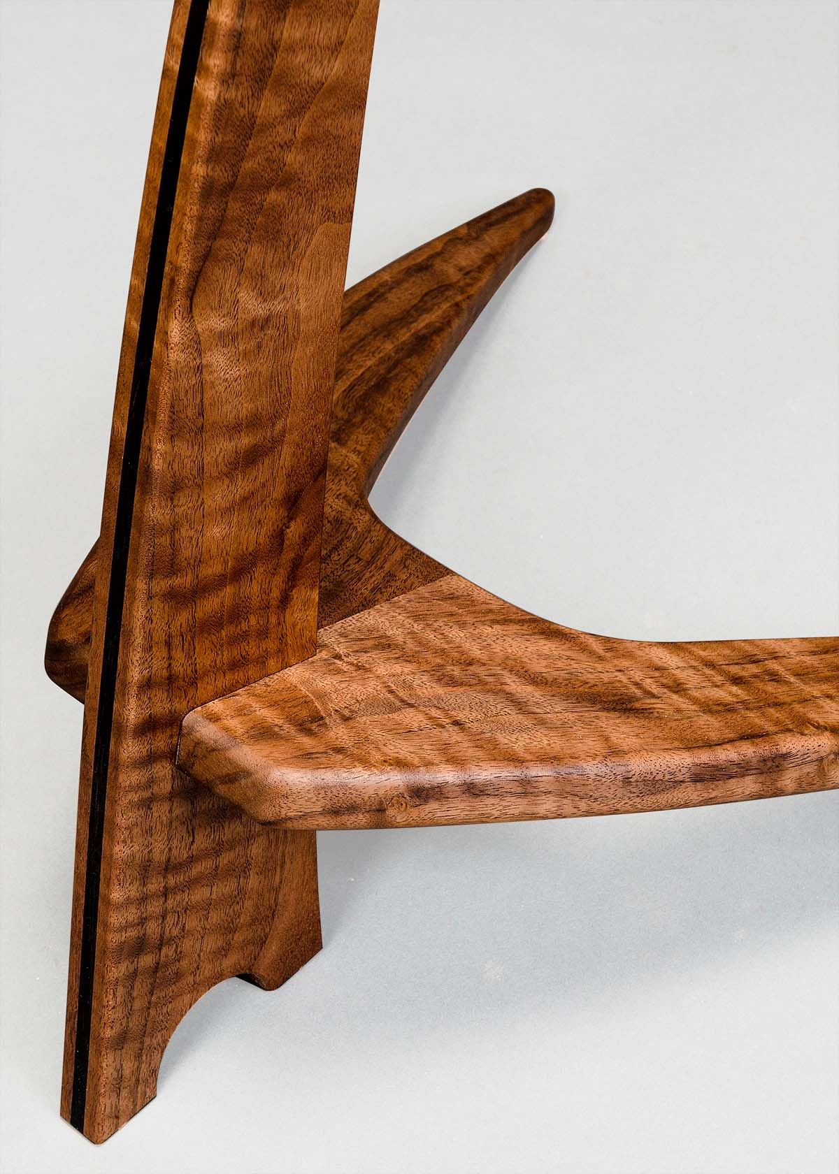 WM Guitar Stand in Claro Walnut with Ebony Inlay