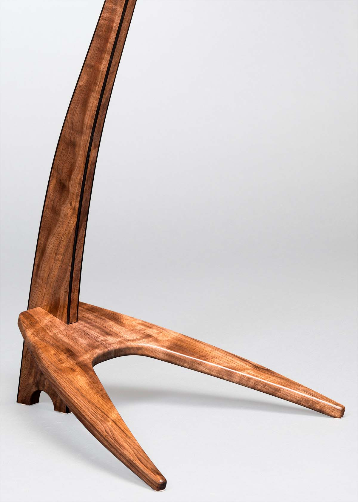 WM Guitar Stand in Claro Walnut with Ebony Edge Binding