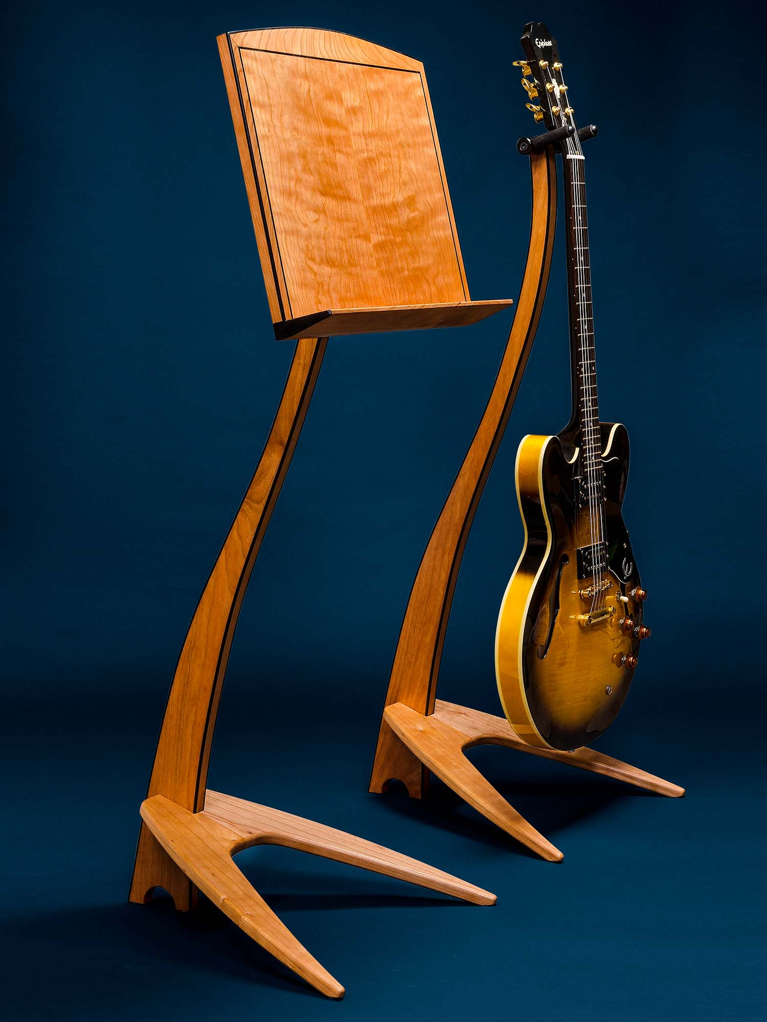 WM Cherry Music and Guitar Stands