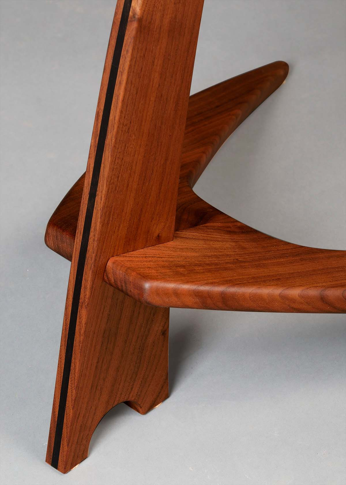 WM Guitar Stand in Walnut with Ebony Inlay